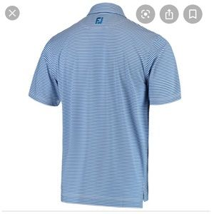 FootJoy Polo Blue Pinstripe 3 Button Collar Sz S